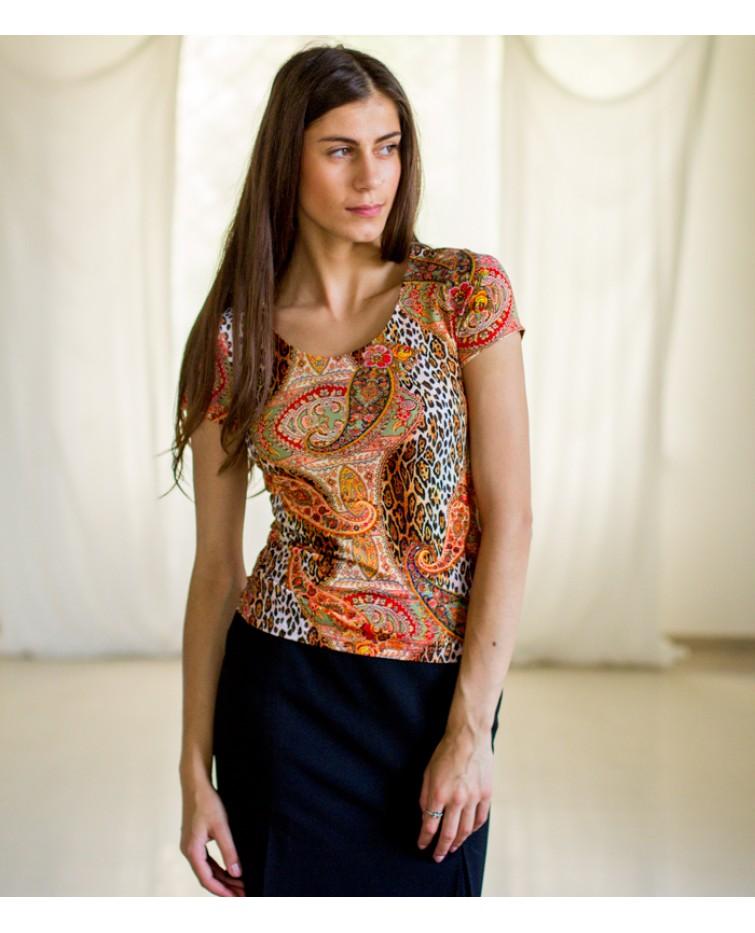 Трикотажна блуза T-084
